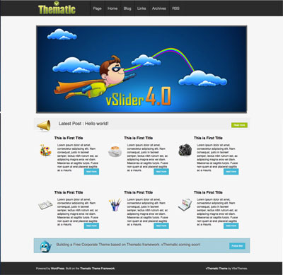 free wordpress theme on Thematic framwork